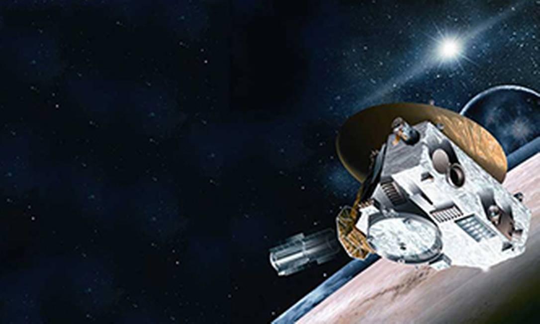 Sonda New Horizon se aproxima de Plutão Foto: / Editoria de Arte