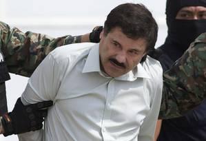 'El Chapo' é transferido em 2014, recapturado após 13 anos de sumiço Foto: Eduardo Verdugo / AP