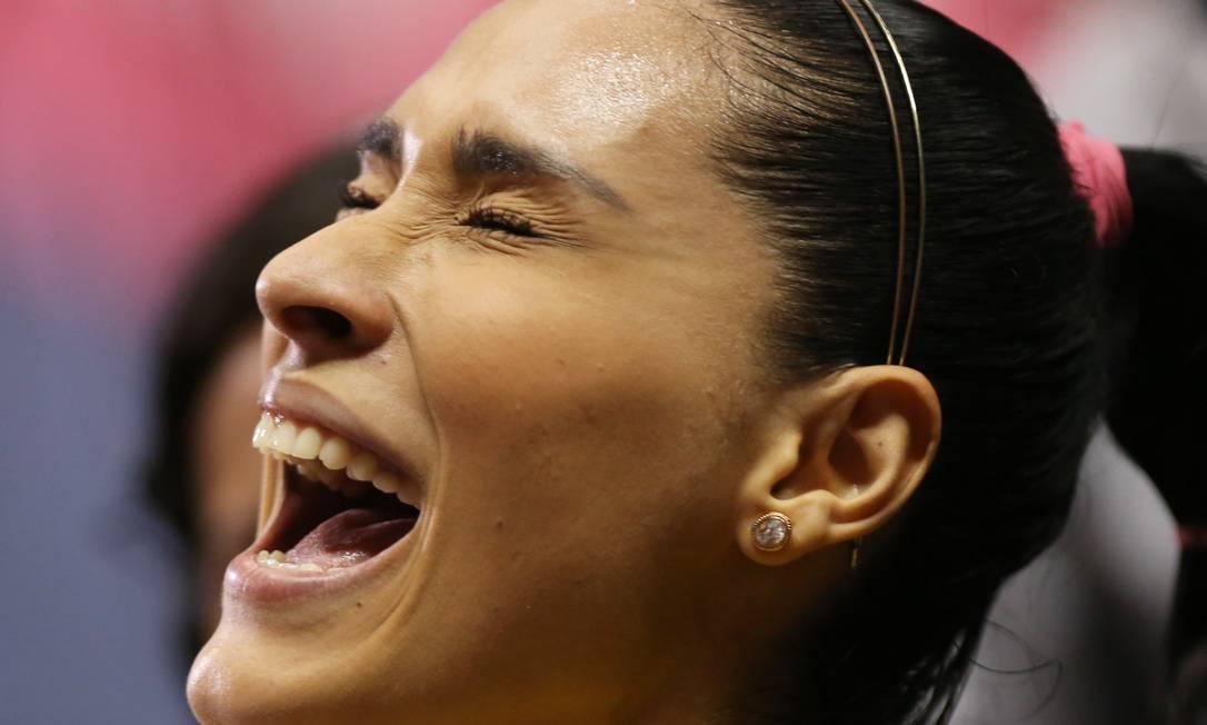 A emoção de Jaque com a sexta vitória do Brasil Fernando Donasci / Agência O Globo