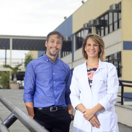 Maila Herdy e Matheus Herdy, diretores da Policlínica da Unigranrio Foto: Fabio Rossi/ Agência O Globo