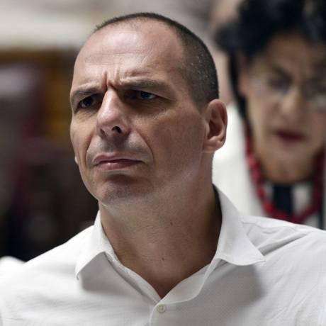 Ex-ministro de Finanças da Grécia, Yanis Varoufakis Foto: LOUISA GOULIAMAKI / AFP