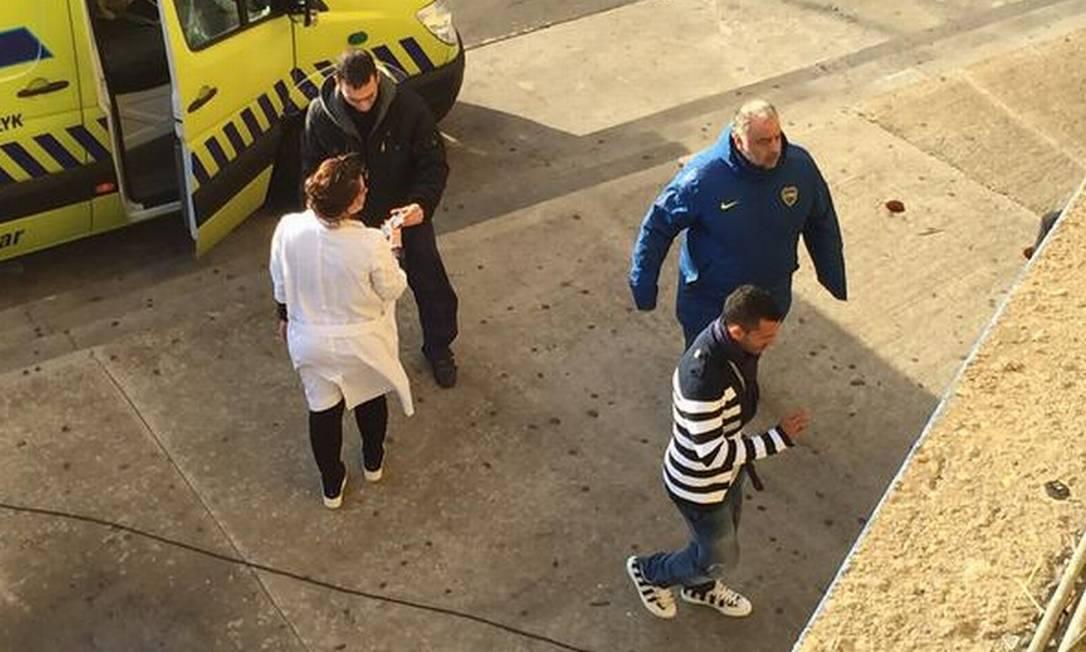 Tévez chega à Bombonera para sua apresentação Divulgação Boca Jrs