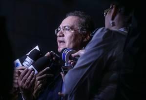 Presidente do Senado, Renan Calheiros Foto: André Coelho / Agência O Globo