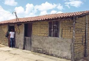 A Escola Municipal Nova Reforma, em Alagoas: dois cômodos numa estrutura de pau a pique Foto: Divulgação/Ministério Público