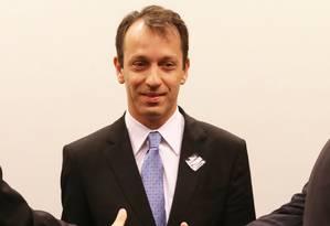 O delegado José Alberto Iegas, na CPI da Petrobras: relato de grampos na sede da PF em Curitiba Foto: Agência O GLOBO / AILTON DE FREITAS/2/7/2015