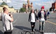 Vídeo foi gravado com câmera escondida pelas ruas de Moscou