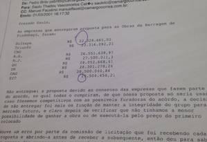 E-mails de funcionários da Camargo Corrêa Foto: Reprodução / Agência O Globo