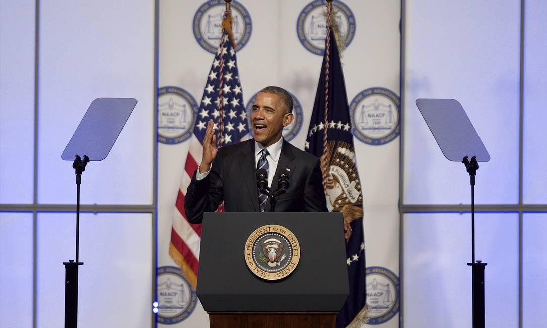 Obama não diminuiu tom de críticas ao Irã Foto: Mark Makela / AFP