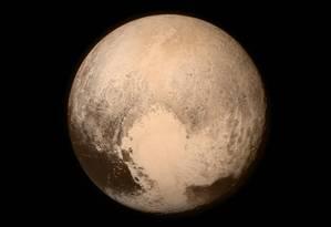 Imagem mais recente e nítida de Plutão feita pela New Horizons Foto: Divulgação/Nasa