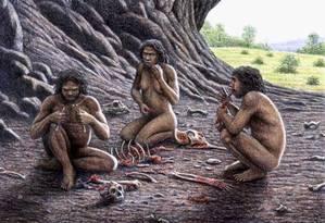 O homem primitivo do Paleolítico já passuía ferramentas para cuidar da higiene bucal, segundo os pesquisadores Foto: Latinstock