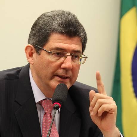 O ministro da Fazenda, Joaquim Levy, na audiência pública Foto: Jorge William / O Globo