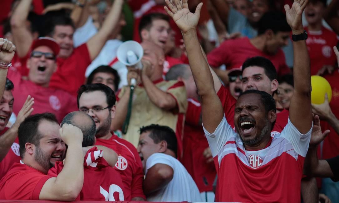 A festa da torcida estádio Giulite Coutinho Agência O Globo