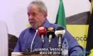 Lula discursa em Angola: vídeo foi divulgado na internet Foto: reprodução