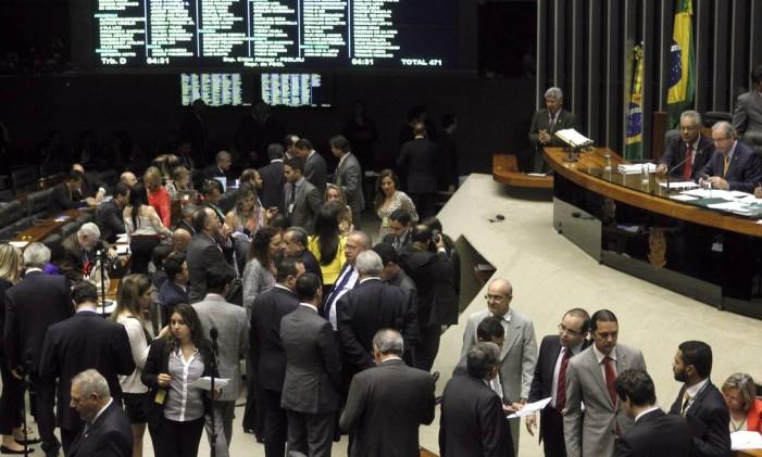 BSB-Brasília-Brasil - 15/07/2015 - PA - Plenário da câmara durante Sessão Deliberativa Extraordinária. Foto:Givaldo Barbosa- Agência O Globo Foto: Givaldo Barbosa / Agência O Globo