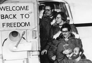 Após 444 dias. Reféns de volta aos EUA Foto: FRED R CONRAD / NYT/21-1-1981