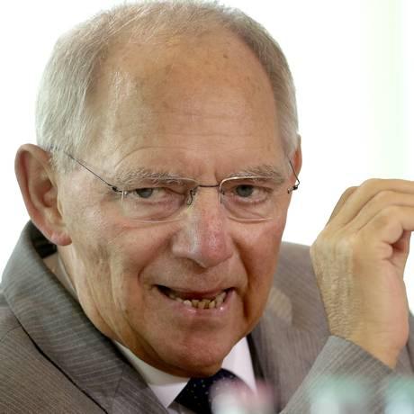Ministro das Finanças da Alemanha, Wolfgang Schäuble Foto: Michael Sohn / AP