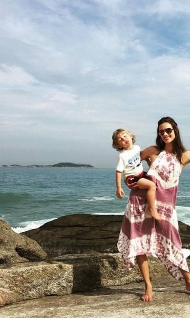 Alessandra Ambrósio com o seu filho caçula Reprodução/ Instagram
