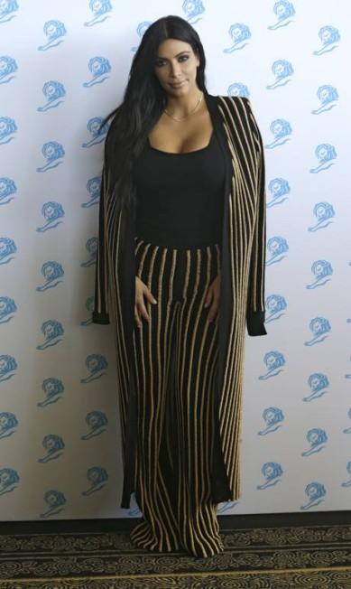 Kim Kardashian de Balmain Lionel Cironneau / AP