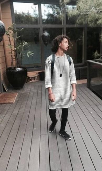 16º lugar: o ator Jaden Smith Reprodução/Instagram