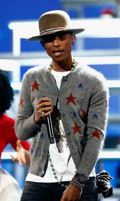 Famoso por suas parcerias com grifes, Pharrell Williams ficou com o terceiro lugar da lista = / Divulgação