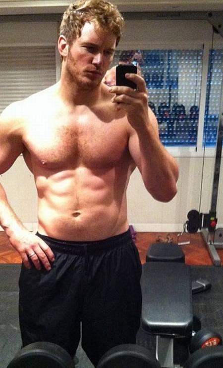 Chris Pratt exibe seu tanquinho na internet Foto: Reprodução/ Instagram