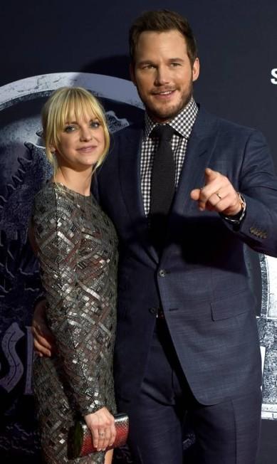 Chris Pratt é casado com a atriz Anna Faris KEVIN WINTER / AFP