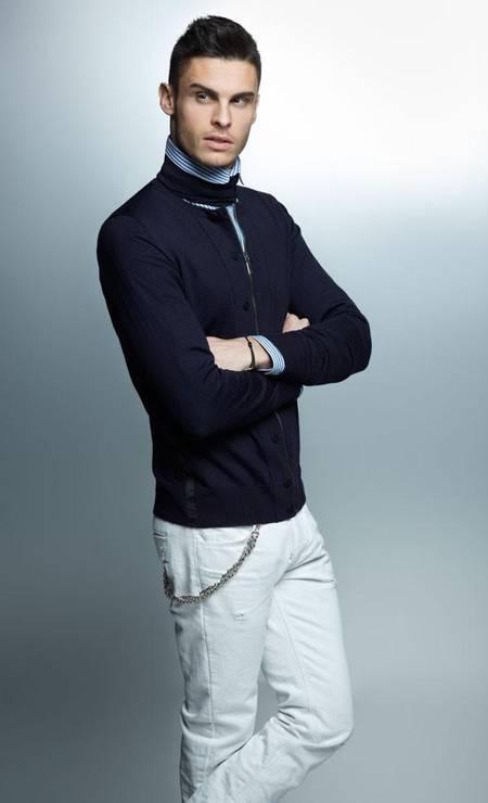 Favorito de Karl Lagerfeld, o francês Baptiste Giabiconi é mais um nome no ranking Foto: Divulgação