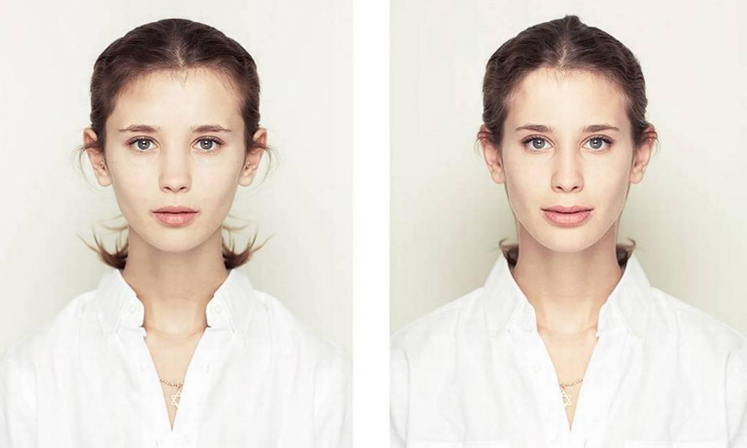 """""""Há um erro na crença amplamente disseminada de que a beleza tem suas origens na simetria. Claro que existem padrões racionais de beleza, mas eles não necessariamente se aplicam no que faz um rosto ser atraente ou belo"""", defende o artista Alex John Beck"""