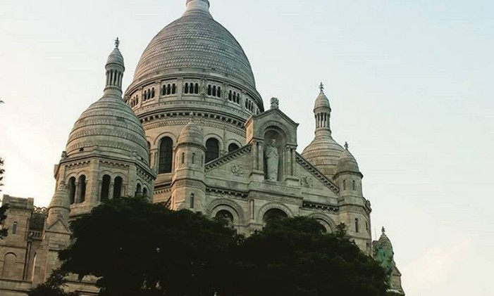 A Sacre-Coeur, em Paris Foto: @joaogerson / Instagram