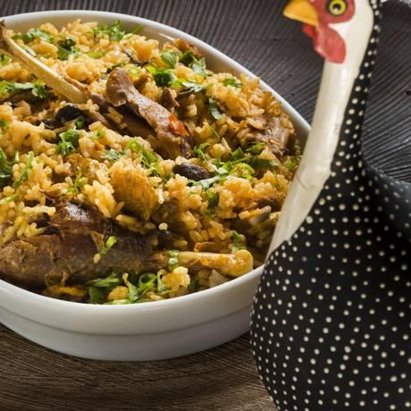 Capote é o nome piauiense para a galinha d'angola. O arroz de capote é tradicional no estado Foto: Ana Branco / fotos de ana branco