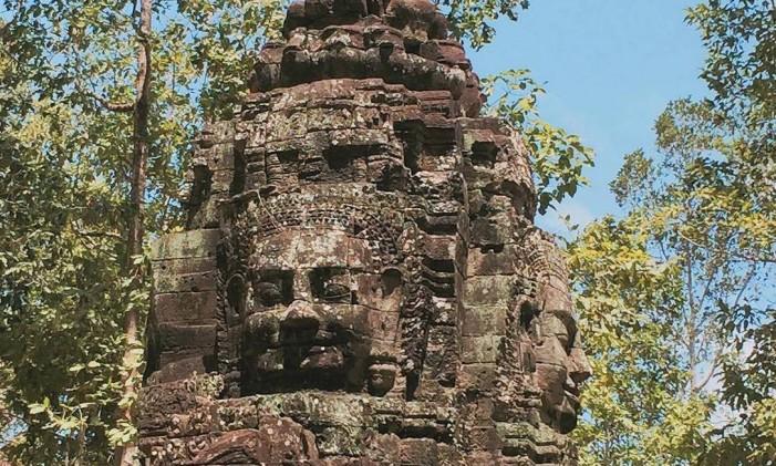 Ruínas na cidade de Siem Reap, no Camboja Foto: @gustavofeijo / Instagram