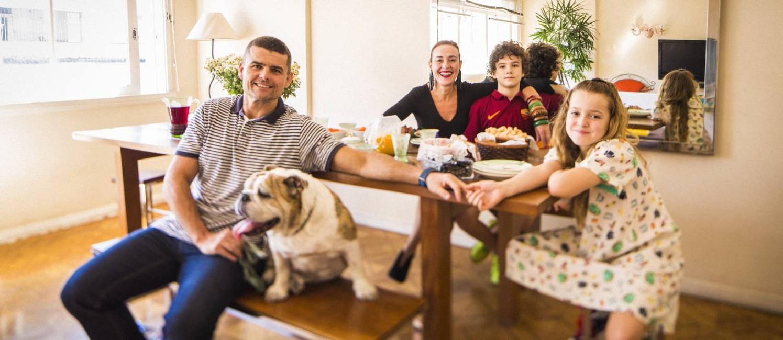 Família Lomba Beer: Leonardo, Fátima, João e Maria Foto: Fabio Seixo / Agência O Globo
