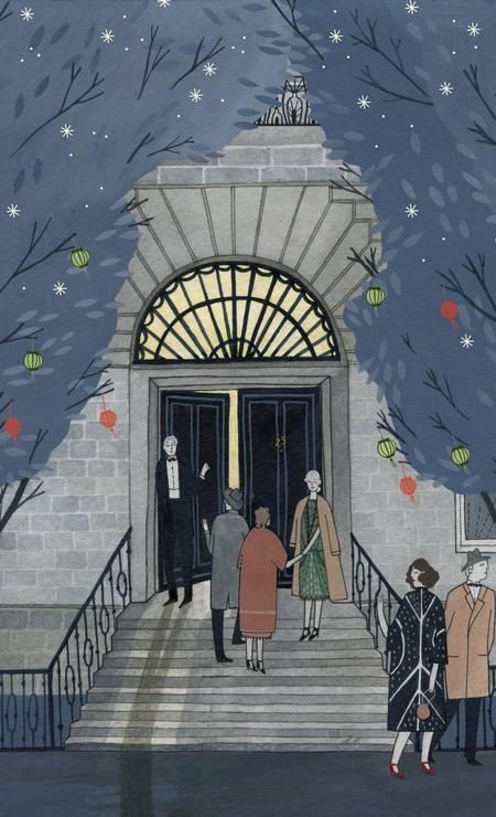 "Cena de ""Mrs Dalloway"", romance de Virginia Woolf Foto: Arte de Yelena Bryksenkova / Arte de Yelena Bryksenkova"