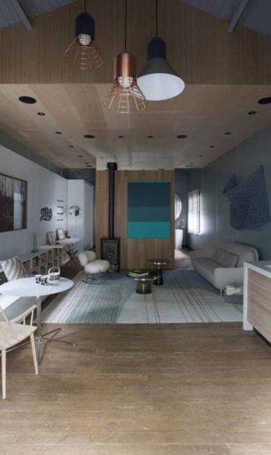Batizado de Lagom, o ambiente criado pela arquiteta Patricia Martinez foi pensado para um casal jovem e conectado Divulgação