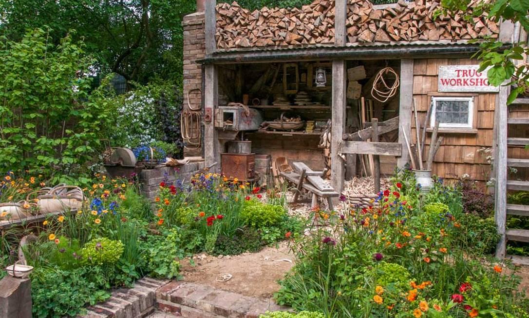 9) Patrocinado pela Future Climate Info, este celebra as habilidades tradicionais dos fabricantes de cestarias de Sussex. Após o evento, muitas das plantas do jardim serão replantadas no hospício infantil da cidade Divulgação / Royal Horticultural Society