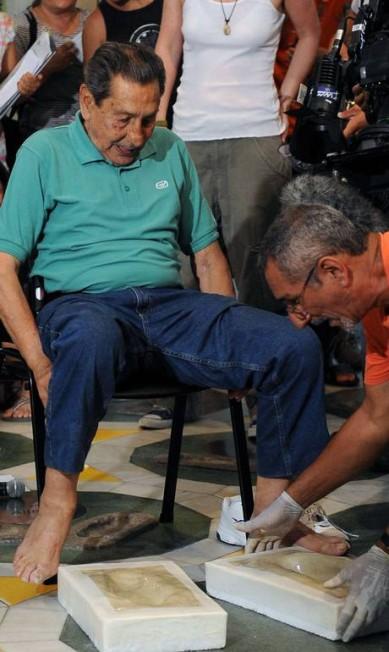 O carrasco do Brasil na Copa de 1950 deixa novamente sua marca no Maracanã VANDERLEI ALMEIDA / AFP