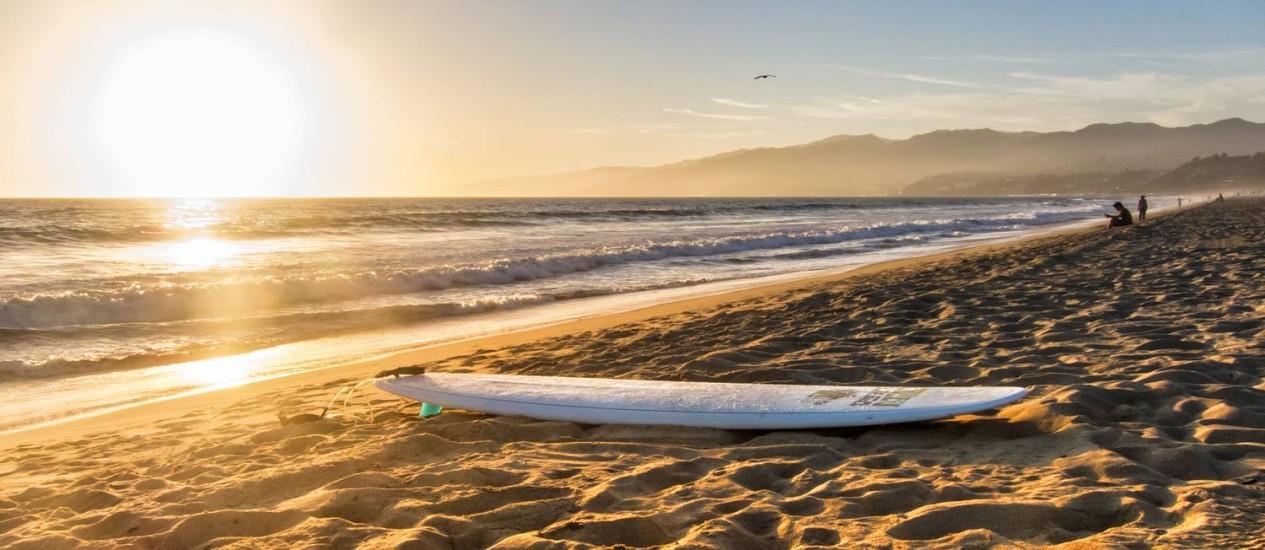 Vista do Oceano Pacífico em praia de Santa Mônica, na Califórnia Foto: Divulgação
