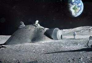 Colônia na Lua pode ser primeiro passo para construção de base em Marte Foto: Ilustração/Science Photo Library