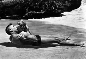 Deborah Kerr e Burt Lancaster em