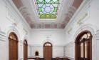 O art nouveau da estrutura original foi mantida para dar um charme a mais aos tratamentos do Pedras Salgadas Foto: Divulgação