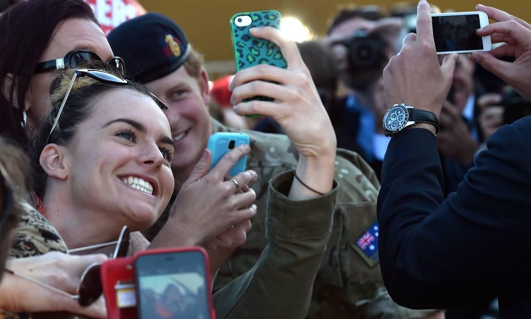 Momento selfie em Sydney SAEED KHAN / AFP