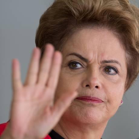 Presidente Dilma Rousseff no Palácio do Itamaraty, em Brasília Foto: Joedson Alves / AP