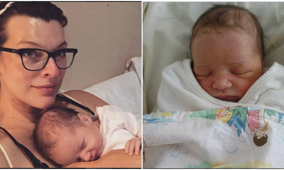No dia 01 de abril, Milla Jovovich deu à luz seu segundo filho, Dashiel Edan. Adivinha onde ela escolheu para mostrar o bebê? Instagram, claro Instagram