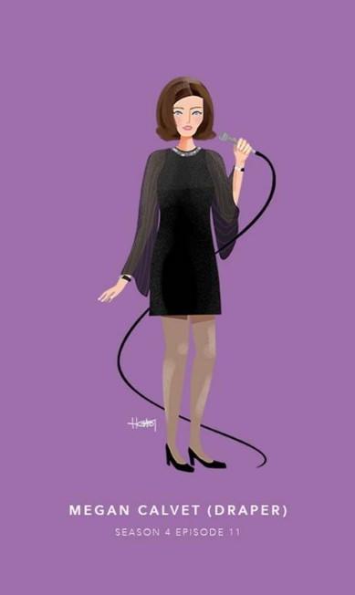 Megan Calvet Draper, episódio 11 da quarta temporada Hannah Choi