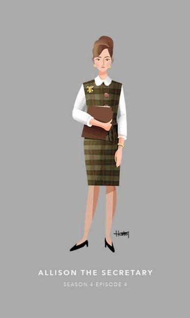 Allison, a secretária. Episódio 4 da quarta temporada Hannah Choi