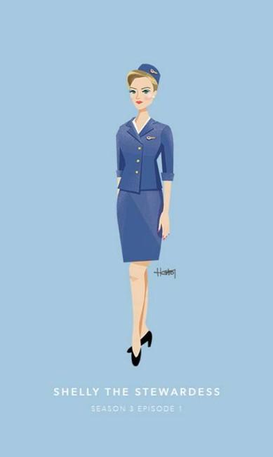 Shelly, a aeromoça, episódio 1 da terceira temporada Hannah Choi