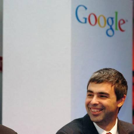 Larry Page e Sergey Brin, cofundadores do Google Foto: John Cogill / Bloomberg News