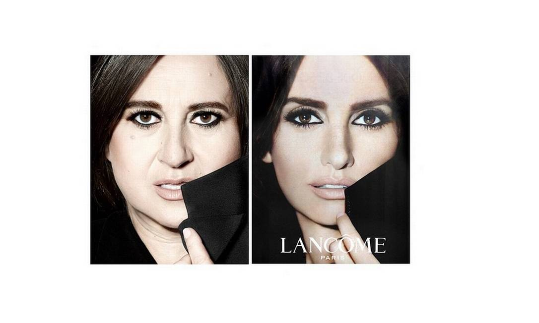 Nathalie Croquet também fez paródio de campanha de beleza da Lancôme estrelada pela atriz Penélope Cruz Reprodução/ Instagram