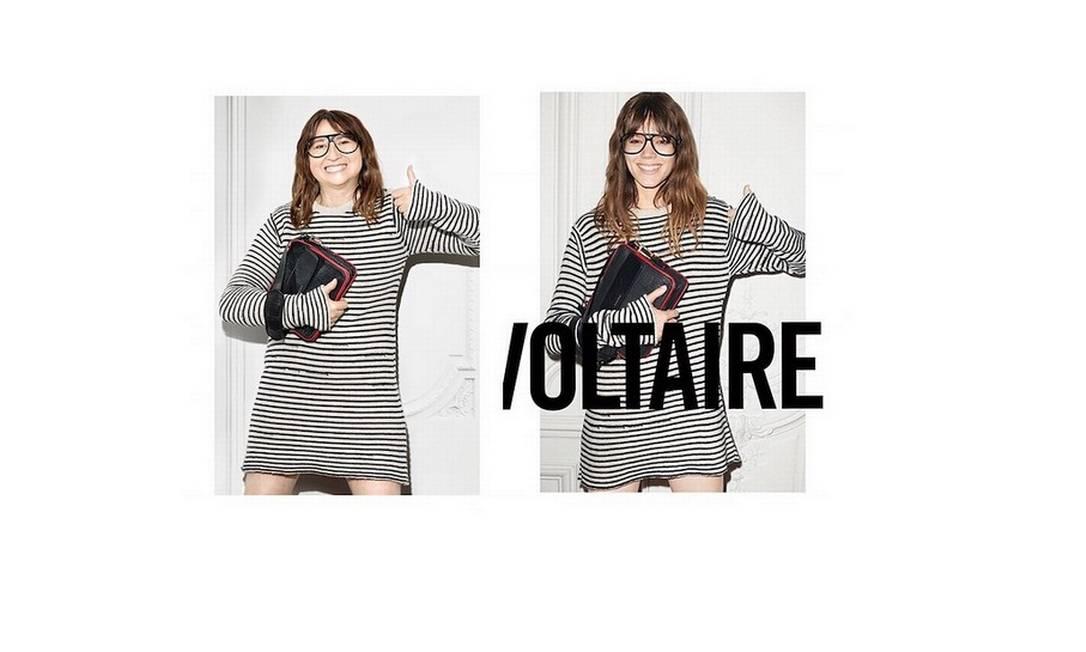 Agora, a francesa vira Freja Beha Erichsen na paródia da campanha da grife Zadig & Voltaire Reprodução/ Instagram