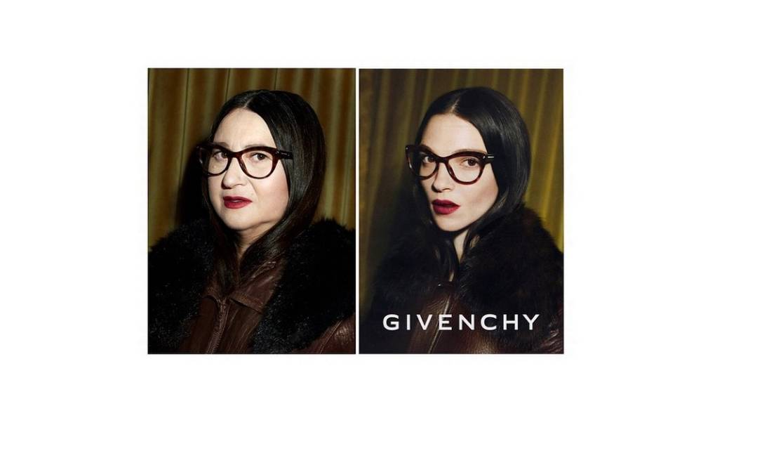 Nathalie refez uma campanha da Givenchy, protagonizada pela top italiana Mariacarla Boscono Reprodução/ Instagram